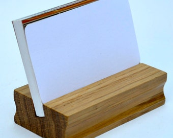 Card Holder/Business Card Display/Wood Business Card Stand/Wooden Card Holder/Office Display/Business Card Holder/Wood Card Holder/decor