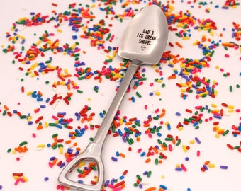 Dad's Ice Cream Shovel Spoon, Fathers Day Gift, Funny Birthday Present for dad, Custom Ice Cream Spoon, Engraved spoon, Dad Spoon, Unique