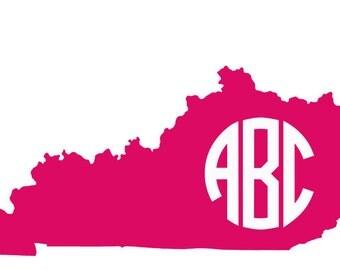 Kentucky Monogram Car Decal - Kentucky car widnow decal