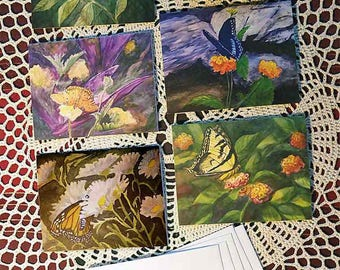 Butterfly watercolor Notecards