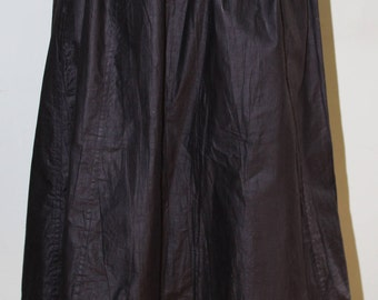 Black, polished cotton vintage petticoat, 1900, perfect for Steampunk!