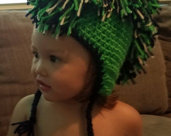 child crochet Mohawk beanie
