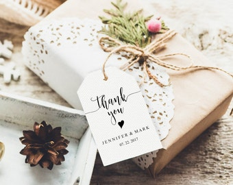 Wedding Thank You Tags Favor Rustic Tag