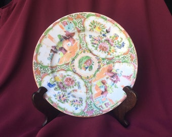 Antique Chinese Export Rose Medallion Plate