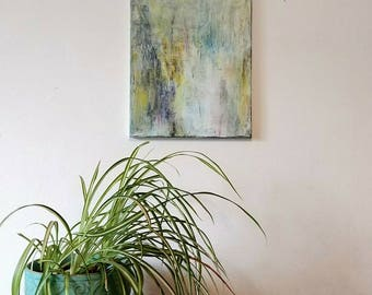 Abstract painyting / Art / Yellow , White , Green / Acrylic Painting