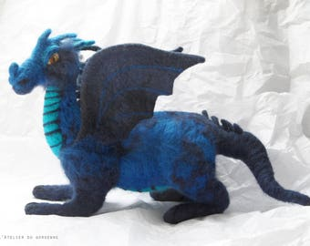 Blue Dragon felted (Waldorf)