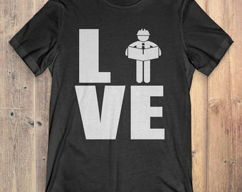 Architect T-Shirt Gift: Love Architect