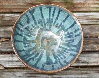 Blue Stoneware Pottery Bowl