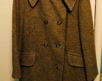 Sears vintage Women's Wool Double Breasted Coat