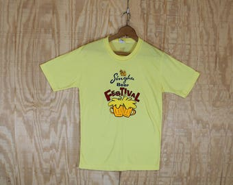Vintage 1980's Singha Beer Festival Bankok Thailand Cotton T-Shirt  T Shirt Large L