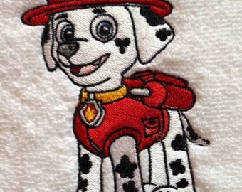 Paw Patrol Marshall Personalised Embroidered Towels Free Name