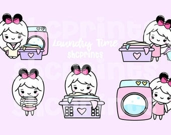 Laundry Time Digital Clipart