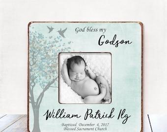 Baptism Gift BOY Christening Gift BOY Personalized Picture Frame Baptism Gift for Godson Gift Godson Baptism Gift Christening Gift Baby S5