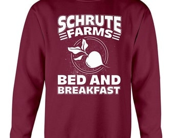 Schrute Farms Sweatshirt - Dunder Mifflin - The Office Shirt - Dwight Schrute - Michael Scott - Jim Halpert - The Office tv show sweatshirt
