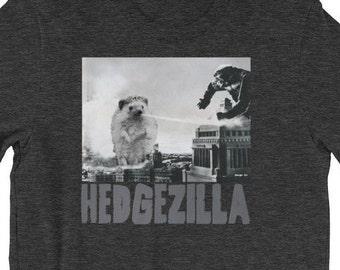 Hedgehog T-Shirt: Hedgezilla Funny Hedgehog Kaiju Unisex T-Shirt