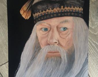 Albus Dumbledore • Dumbledore Painting • Dumbledores Army • Dumbledore Art • Gryffindor Wall Art • Hogwarts Wall Art • Harry Potter present