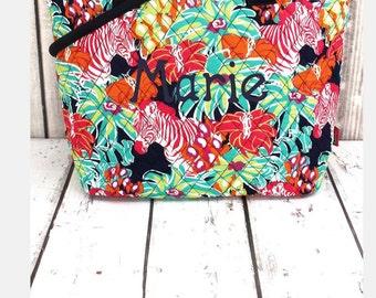 Jungle Life Quilted Shoulder Bag