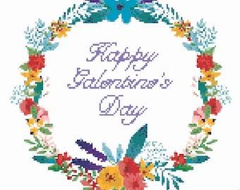 Happy Galentine's Day PDF cross stitch pattern
