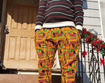 kente pants/ankara pants/unisex pants/pants/african clothing/