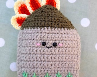 Getting on like a house on fire! - Crochet Amigurumi Kawaii Play Food