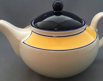 Staffordshire Avanti Yellow Large Teapot.