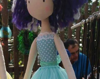 Ballerina doll, doll, fabric doll,  ballerina