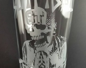 Suicidal Tendencies - Etched Glass - Pint Glass - Cup - Suicidal - S.T. - Thrash - Punk - Rock - Heavy Metal - Skate - Beer - Glass