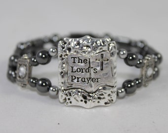 The Lord's Prayer Religious High Quality Magnetic Bracelet
