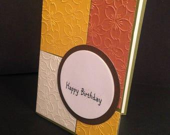Color Block Happy Birthday Card