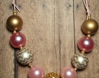 Pink Sparkle Bubblegum Necklace
