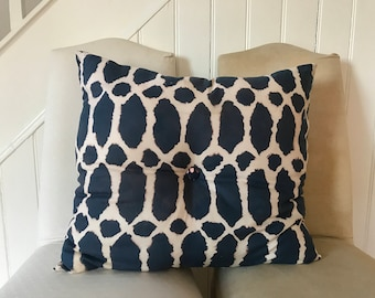 Large handmade bleach design cushion