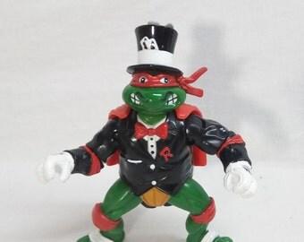 1992 Teenage Mutant Ninja Turtles - Bodacious Birthday Raph Raphael action figure TMNT