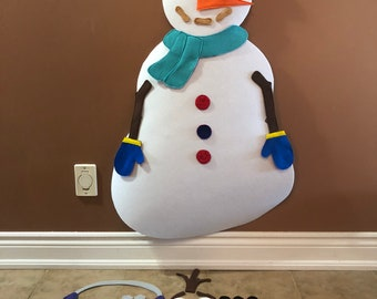 Snowman decorating activity