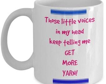 Get More Yarn-crafter mug, novelty mug, sarcasm, funny mug, statement mug, sarcastic mug, glitter sweat-funny