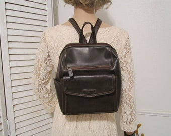 Brown Backpack, Rosetti Backpack, Backpack in Brown Color,  Non Leather Backpack,   Brown Backpack Rosetti