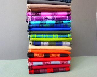 Cloth Napkins - 10 Reusable Paper Towels - Plaid - Unpaper Napkins - Unpaper Towels - Flannel Napkins - Cloth Paper Towels - 10 x 12