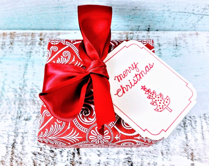 Red & White Merry Christmas Soap Gift
