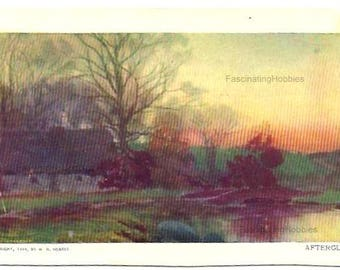 1904 -  LANDSCAPES - N.Y. SUNDAY American & Journal - 3 Postcards: Mill Pond, Afterglow, Winter Day- Autorized by Act of Congres May 1898
