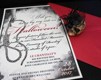 Halloween invitation, Halloween Invite, Halloween Party, Printable Invitations, Hang Out