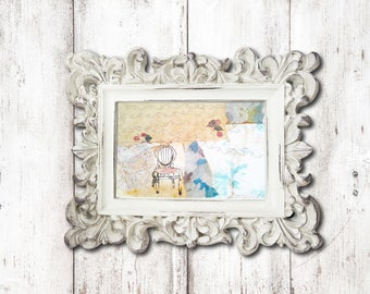 Handmade vintage collage,  French collage, shabby French chic, handmade art,French Chic. French decor, original collage, Vintage wallpapers