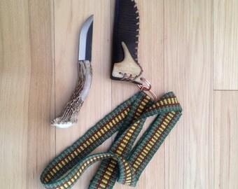 Antler Handled Neck Knife