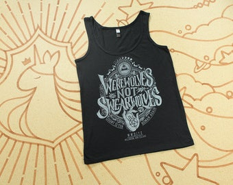 Women's Werewolves Not Swearwolves Tank //  What We Do In The Shadows Tank Top // Hand Screen Printed // Available in Plus Sizes