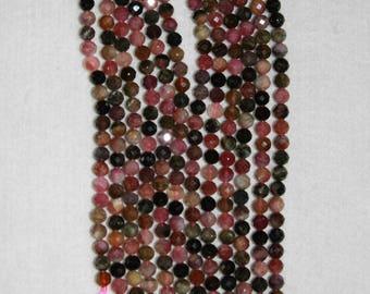 Tourmaline, 5.5 mm, Tourmaline Bead, Faceted Bead, Multicolor Strand, Gemstone Bead, Natural Stone, Sparkle Bead Full Strand, AdrianasBeads