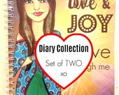 Diary Collection Set of TWO: PRE-ORDER 2018 Muse Mantra Diary  (10% off Two)