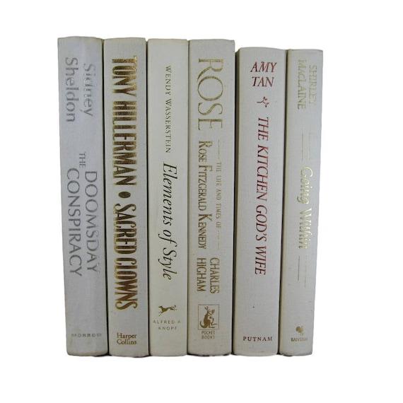White Beige Decorative  Books