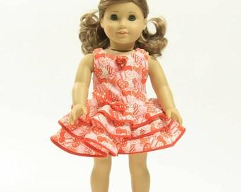 VALENTINES DAY DRESS 18 Inch Doll Dress