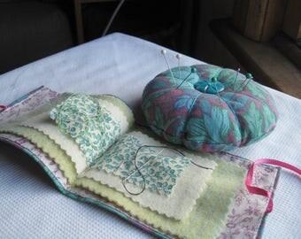 petal pincushions, handmade, vintage fabrics, proceeds to charity