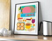 Kitchen Wall Art, Food Lo...