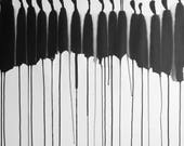 "A1 Large Size Modern Abstract Fine Art Hand Painted Black & White Ink Wash Painting 23.4x33.1"" Untitled 3010"""