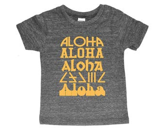 Aloha | Hawaii | Toddler Shirt | Toddler Boy Girl | Trendy Baby | Vacation | Baby Cool Shirt | Toddler Weekend Style Trendy One of a Kind